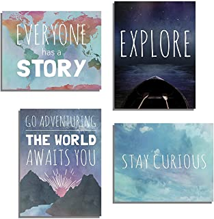 Explore Collection of Four 24x36 Inch Print Wall Art Prints,  Typography,  Nursery Decor,  Kid's Wall Art Print,  Kid's Room Decor,  Gender Neutral,  Motivational Word Art,  Inspirational