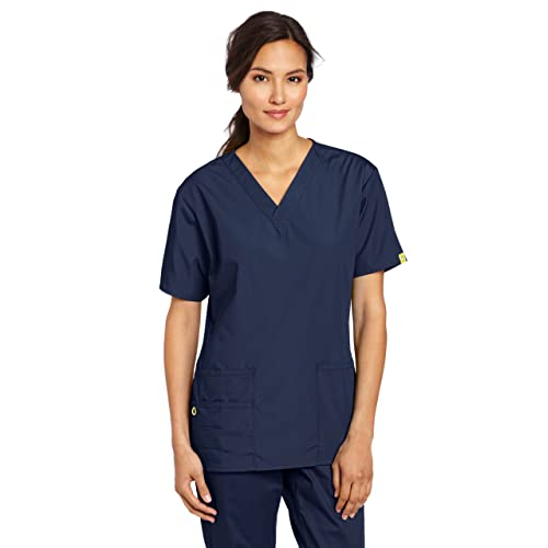e5eb3a73ed3 WonderWink Women's Plus Size Scrubs Bravo 5-Pocket V-Neck Top
