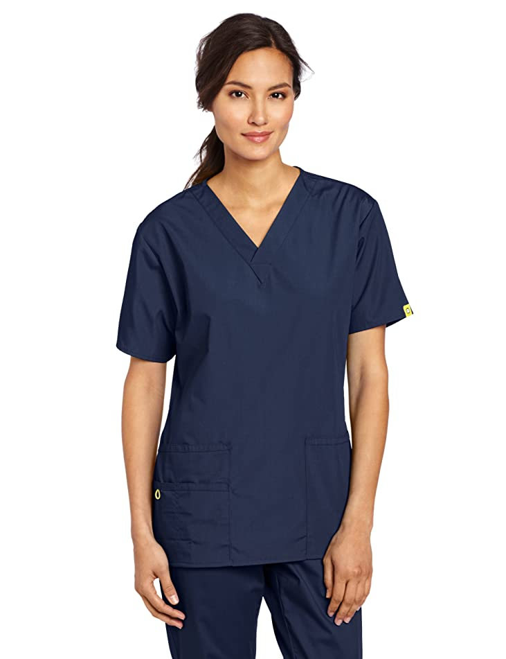 WonderWink Women's Plus Size Scrubs Bravo 5-Pocket V-Neck Top