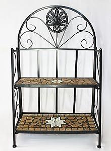 DanDiBo Scaffale Mosaico Merano 12006 Libreria 80 cm in metallo Scaffale-bagno in ferro battuto