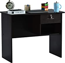 DeckUp Yonne Study Desk and Office Table (Dark Wenge, Matte Finish)