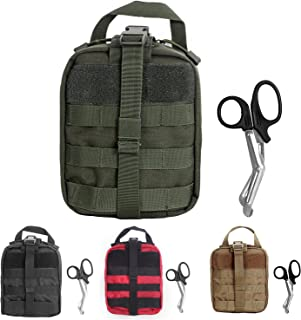 Tactical MOLLE Rip-Away EMT Medical First Aid Utility Pouch (GREEN2)
