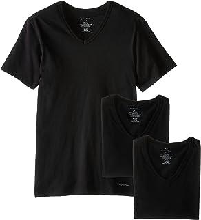 Calvin Klein Men's 3 Pack Cotton Classics Slim Fit V-Neck T-Shirt