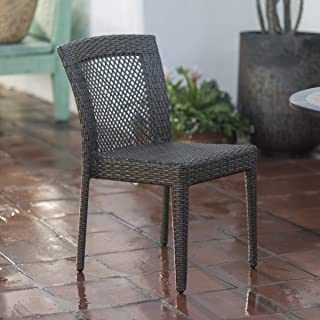 Versatile Style Coral Coast South Isle All Weather Wicker Natural Patio Dining Arm Chair for any Patio