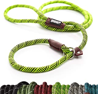 Friends Forever Extremely Durable Dog Slip Rope Leash, Premium Quality Mountain Climbing Rope Lead, Strong, Sturdy Comfort...