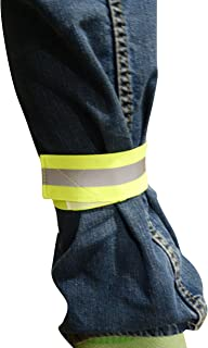 Reflective High Viz blousing garter pant keeper SAFETY YELLOW Great for cycling, running or walking at night, in the car for emergencies, flight line, on base use (1.5