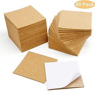 Blisstime 80 Pcs Self-Adhesive Cork Sheets 4
