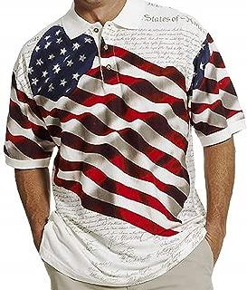 Cotton Traders Allover Patriotic Men's Polo Shirt