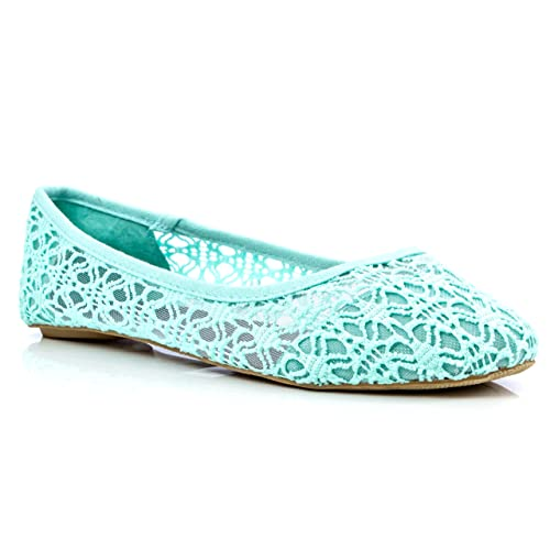 a3fb35c3f73730 Charles Albert Women's Breathable Crochet Lace Ballet Flat