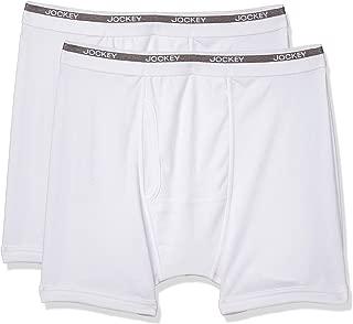 Jockey Plain Mordern Classic Boxer Pack Of 2 For Men - White, 90 - 95 cm