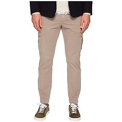 eleventy Stretch Cotton Cargo Pants (Tan) Men