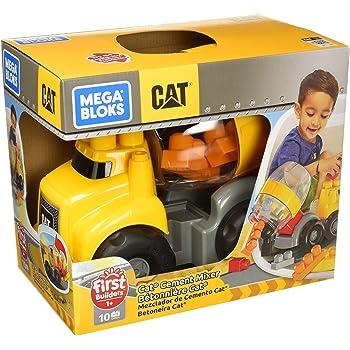 Mega Bloks Camión Mezclador de Cemento CAT