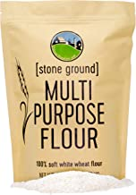 Soft White Wheat Flour • Non-GMO Project Verified • 3 LBS • 100% Non-Irradiated • Certified Kosher Parve • USA Grown • Field Traced • Resealable Kraft Bag