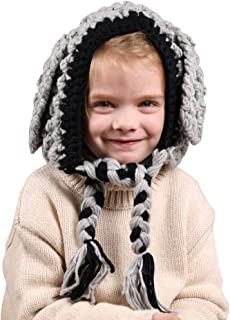 QF-us Winter Kids Hat Animal Hats Knitted Coif Hood Scarf Beanies for Autumn Winter