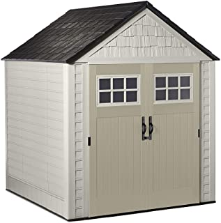 Rubbermaid Outdoor Storage Shed, 7X7 feet, Resin Weather Resistant Outdoor Garden Storage Shed for Backyard, Garden, Tool ...
