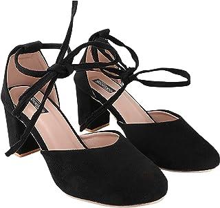 Do Bhai Women Material Suede Stylish Fashion Heel Sandal(SG-110)
