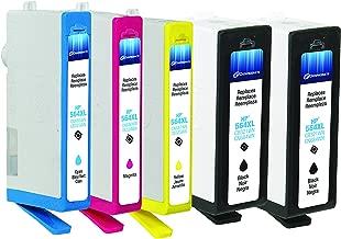 dataproducts معاد تصنيعها 5-pack-inkjet خراطيش لجهاز HP 564X l-2black ، أزرق سماوي ، أرجواني ، أصفر