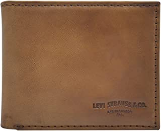 Levis Mens Wallet, Card Case & Money Organizer, Tan, 31LV130028