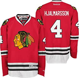 Reebok Chicago Blackhawks #4 Niklas Hjalmarsson Premier Home Jersey NHL XXL Red