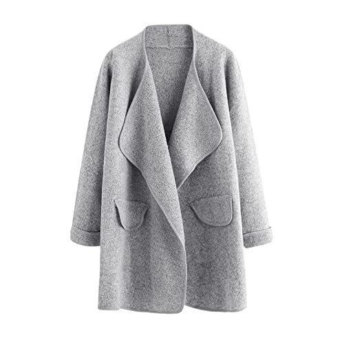 ff7a7e6478 SheIn Women's Long Sleeve Cardigan Open Front Loose Sweater Coat