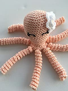 Crochet Octopus for babies, octopus for preemies - Peach