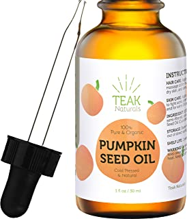 PUMPKIN SEED OIL by Teak Naturals, 100% Organic, Natural for Face, Hands, Scars, and Breakouts 1 oz