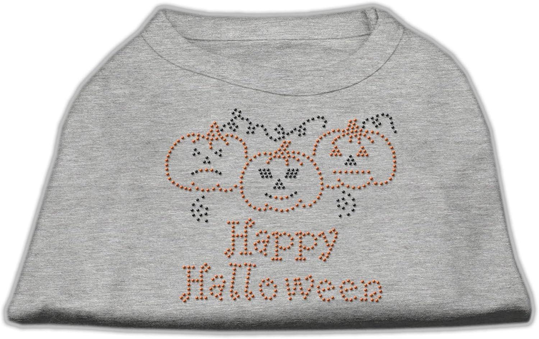 Dog   Cat   Pet Charms Happy Halloween Rhinestone Shirts Grey XXXL(20)