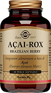 Solgar Açaí Extract Brazilian Berry, 60 Softgels - Superfood, Natural Antioxidant - Helps Fight Oxidative Stress - Non-GMO...