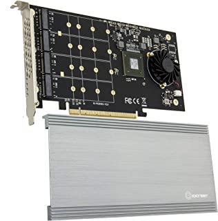 I/O Crest SI-PEX40152 Dual M.2 NVMe Ports to PCIe 3.0 x16 Bifurcation Riser Controller - Support Non-Bifurcation Motherboard