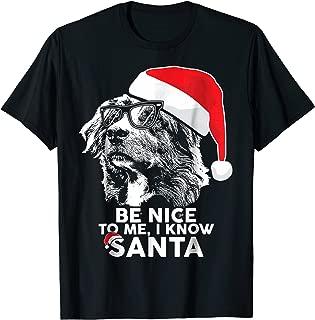 Be Nice Australian Shepherd Christmas Shirt Funny Xmas Gift