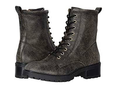 FRYE AND CO. Anise Combat (Black Multi Distressed Leather) Women