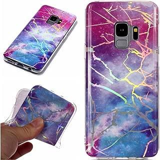 Galaxy S9 Case, ZERMU Laser Shiny Unique Marble Design Anti-Scratch & Shock Proof Bumper Slim Fit Flexible Ultra-Thin Soft TPU Case for Samsung Galaxy S9 5.8