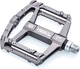 MEETLOCKS Bike Pedal CNC Aluminum Body Cr-Mo Machined 9/16 Screw Thread Spindle 3 Ultra Sealed Bearings Platform
