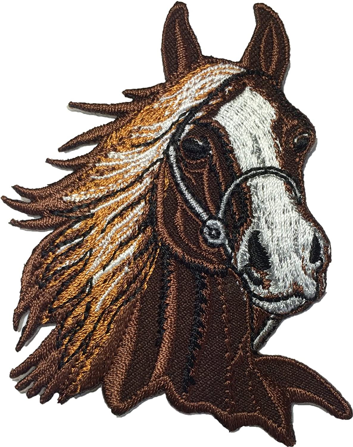 Brown Horse size 7.5 x 8.5cm. Jacket Vest shirt hat blanket backpack T shirt Patches Embroidered Appliques Symbol Badge Cloth Sign Costume Gift