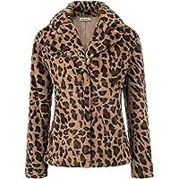 GRACE KARIN Women Winter Warm Lapel Coat Faux Fur Jacket