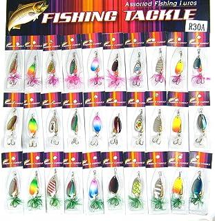 30個の釣りスピナースプーン釣りルアー3.5g-5gルアー スプーンバス釣り セット ルアー クランクセット