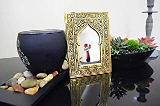 Funny gifts Mirror for Wall or for Makeup Covered Copper Metal Engraved by Hand 6.7 Inch on 4.7 Inch Hanging Moroccan Decor Perfect Piece for put it on your Handbag for Makeup Gift Ideas for Women