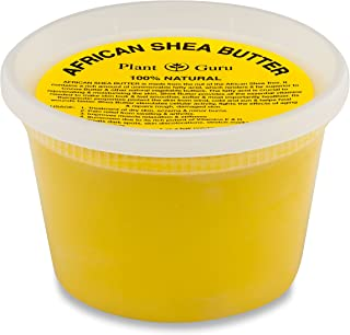 Raw African Shea Butter 16 oz Unrefined Grade A 100% Pure Natural Yellow/Gold From Ghana DIY Crafts, Body, Lotion, Cream, lip Balm, Soap Making, Eczema, Psoriasis And Aid Stretch Marks