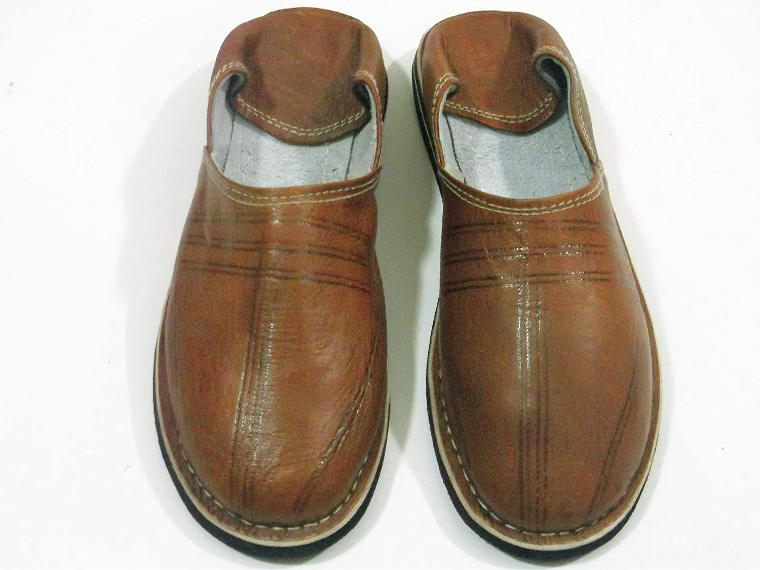 leather Max 78% OFF slippers 5 popular babouches en slippe mens brown cuir