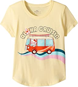 Hello Kitty® Aloha Cruisin Short Sleeve Screen Tee (Toddler/Little Kids)