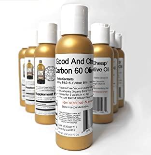 Sponsored Ad - Carbon 60 Olive Oil 90mg / 100ml C60 Supplement 99.9+% Solvent Free C60oo by Good and Cheap