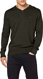 Tommy Hilfiger Men's Pima Cotton Cashmere V Neck Sweater