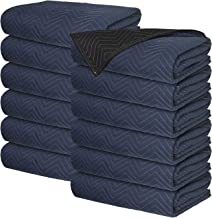 Moving Blankets - Professional Packing Shipping Moving Pads - Cheap Cheap Moving Boxes (Pro Blankets (35 lb/dz) - 12 Pack)
