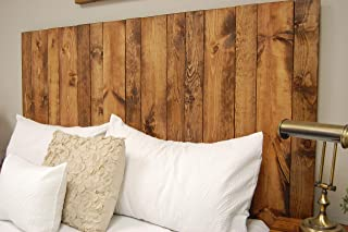 Honey Headboard Queen Size Stain, Hanger Style, Handcrafted. Mounts on Wall. Easy Installation