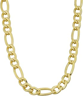 Solid 14k Yellow Gold Filled 6 mm Figaro Chain Necklace (18, 20, 22, 24 or 30 inch)