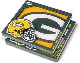 YouTheFan NFL Green Bay Packers Logo Series Coaster