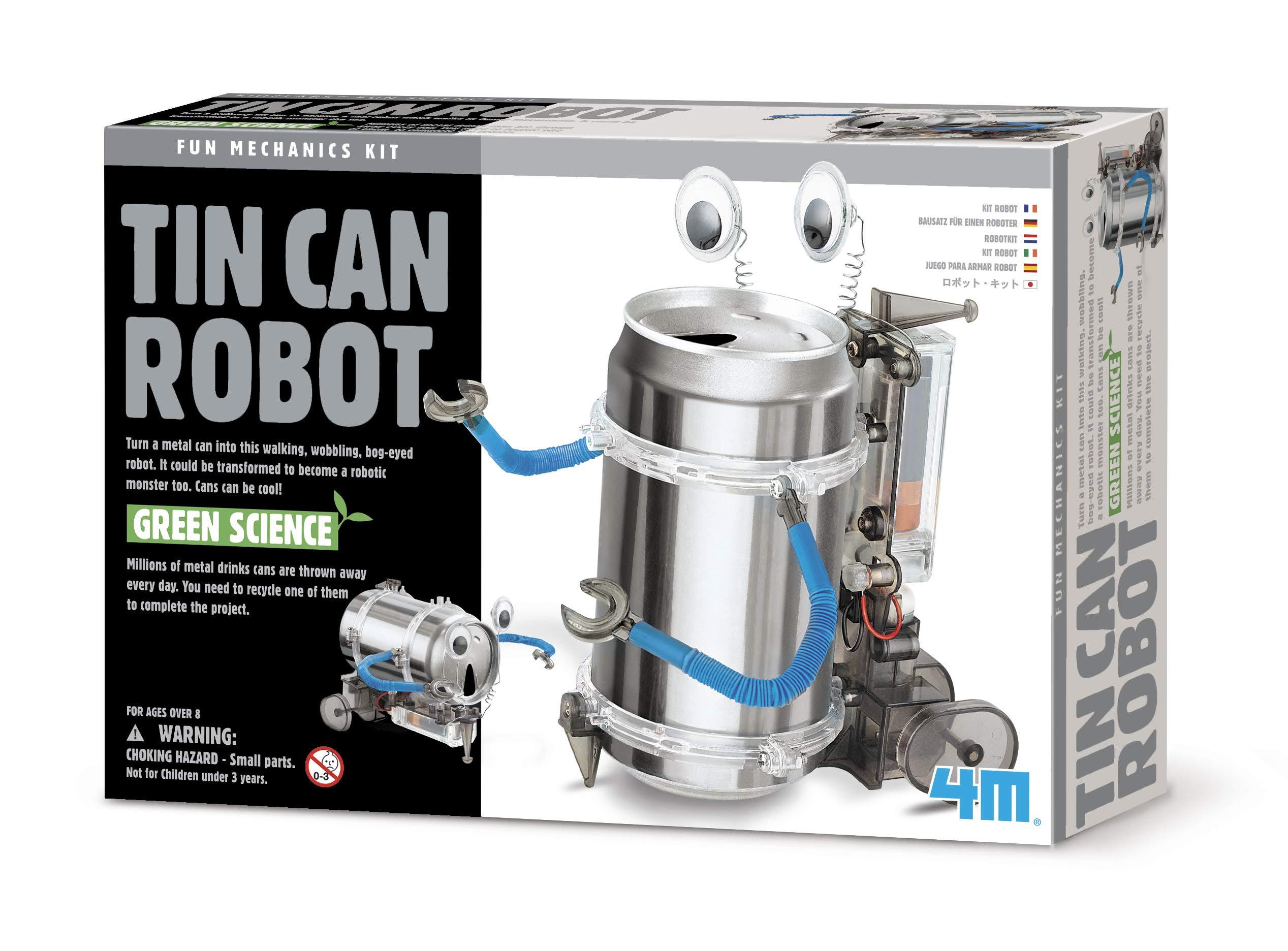 4M 机械工程系列 STEM科学益智玩具 易拉罐机器人