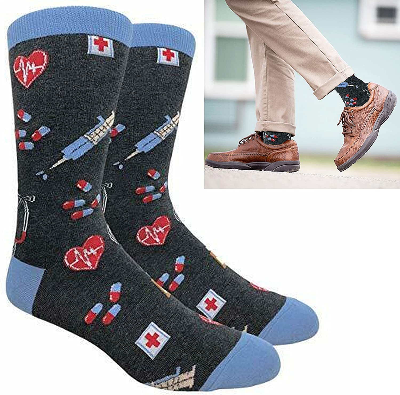 1 Pair Crew Socks Medicine Design Nurse Novelty U supreme Doctor Medical Super beauty product restock quality top!