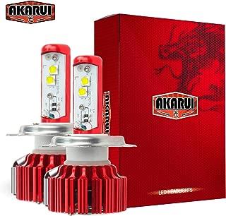 Akarui LED Headlight Bulbs Conversion Kit - Double Beam - CREE - 9,600 lumens - 55W - 6000K Cool White - 2-Year Warranty - Pair (H4 (9003))