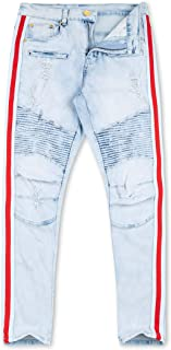 Moto Stripe Jeans Ice Blue